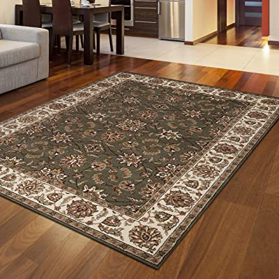 Radici 1592 COMO Rugs, 7-Feet 9 by 11-Feet, Green