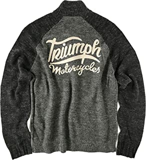 Men's Triumph Motorcycle 1/4 Zip Pullover Sweater