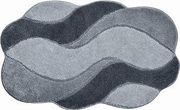 Grund Bath Mat, Ultra Soft and Absorbent, Anti Slip, 5 Years Warranty, Carmen, Bath Mat 60x100 cm, Grey