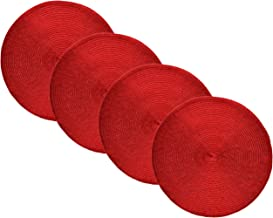 Best red round beaded placemats Reviews