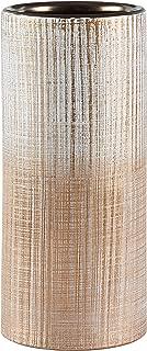 Rivet Rustic Stoneware Indoor Outdoor Flower Plant Home Decor Cylinder Vase, 9