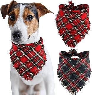 BoomBone Dog Bandana Christmas Plaid Bandanas for Dogs,Triangle Bibs Pet Scarf Accessories