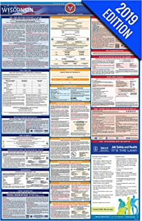 2019 Wisconsin Labor Law Poster – State, Federal, OSHA Compliant – Single Laminated Poster