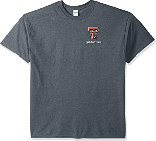 NCAA Texas Tech Red Raiders Flag Glory Short Sleeve Shirt, Small, Dark Heather