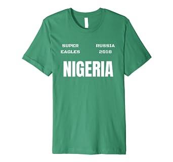 wholesale dealer 95071 f57d0 Amazon.com: Nigeria Football T Shirt Super Eagles Jersey ...