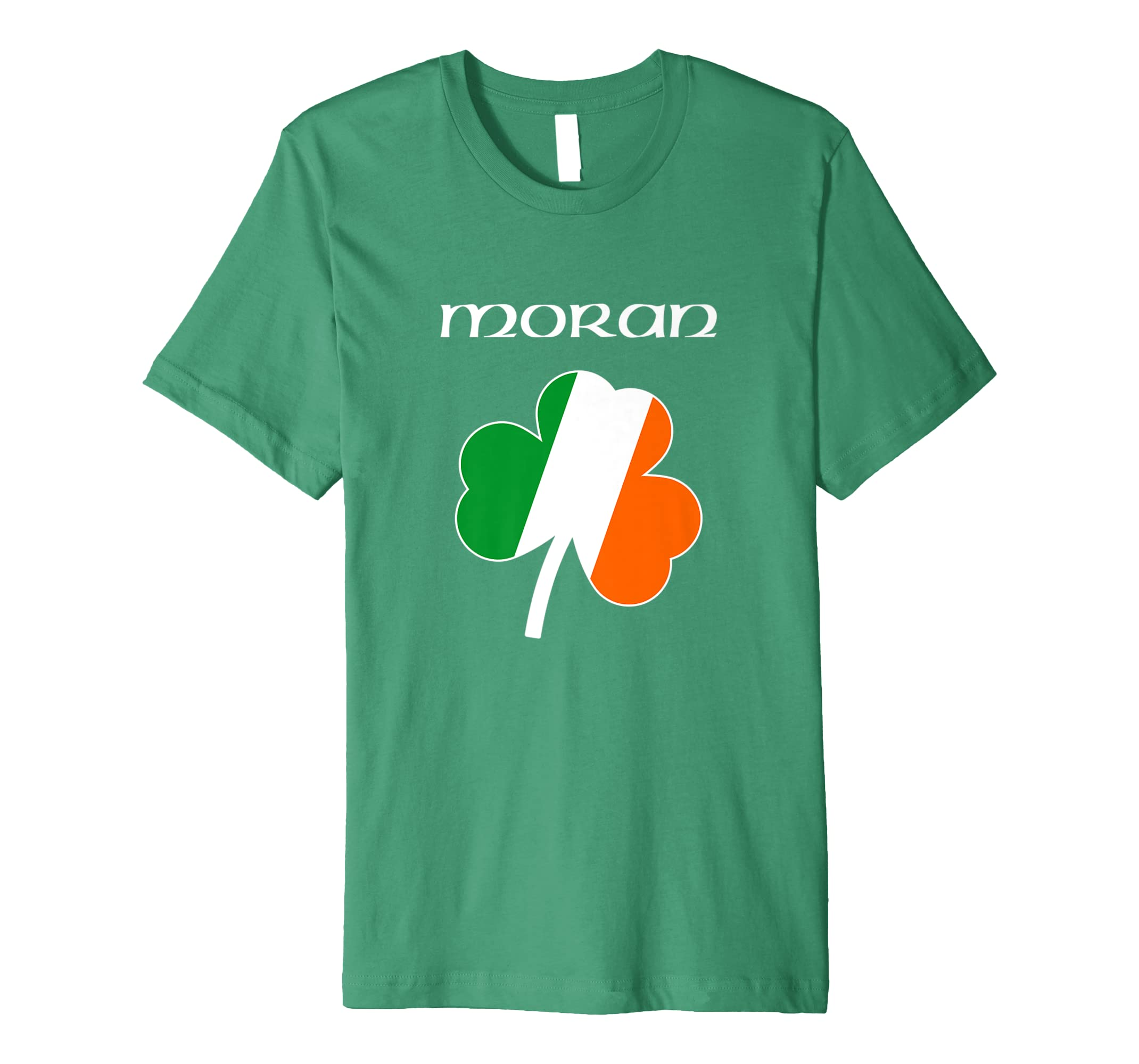 a0d0442eb18f0 Amazon.com: Moran T Shirt Irish Name Shamrock: Clothing