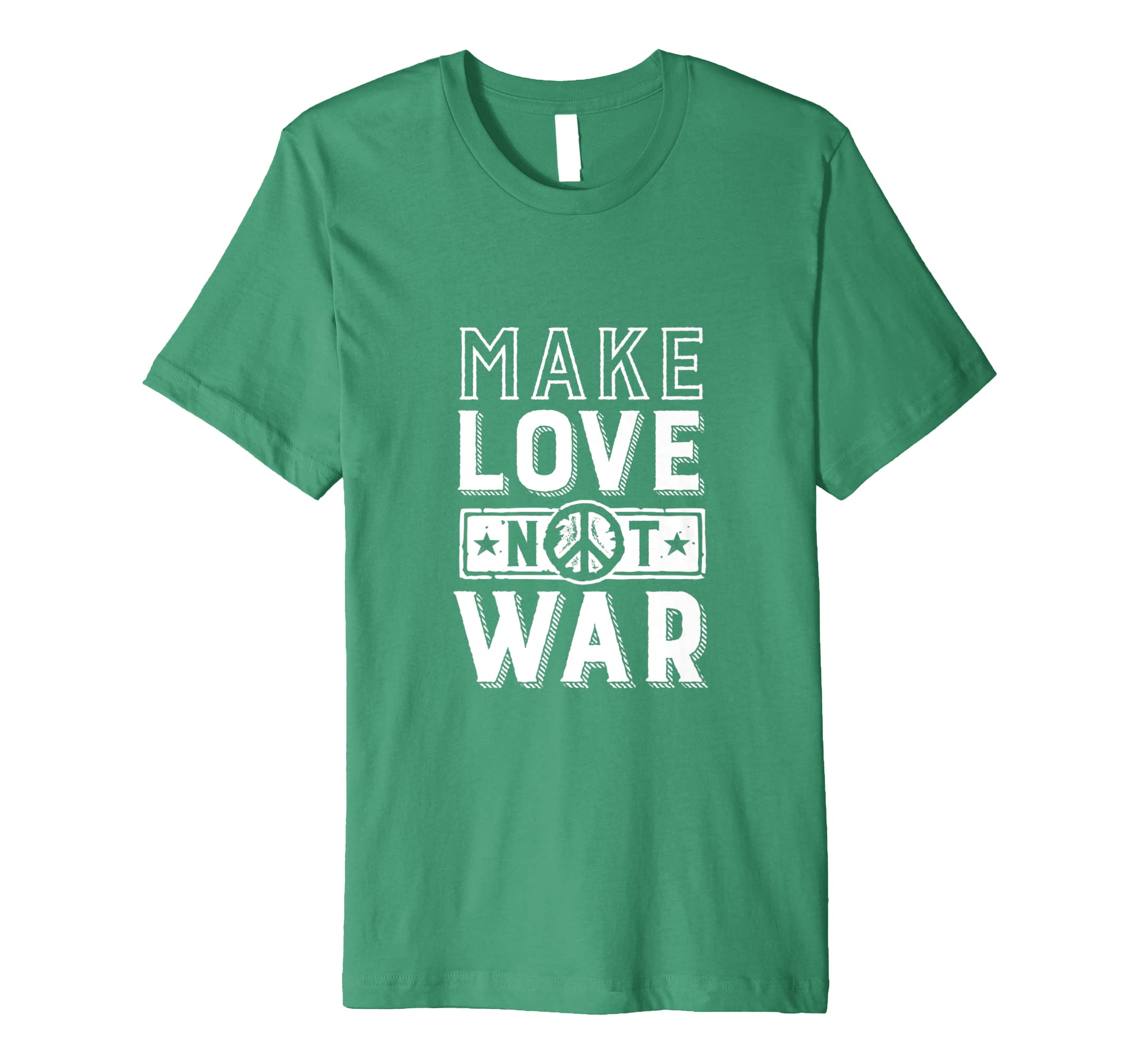 Amazon com: Inspirational World Peace Slogan Tshirt Make