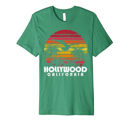 Vintage Retro Style Hollywood California CA 70s 80s Style Premium T-Shirt