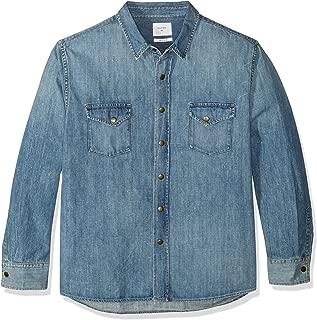 Men's Denim Brass Snap Work Shirt