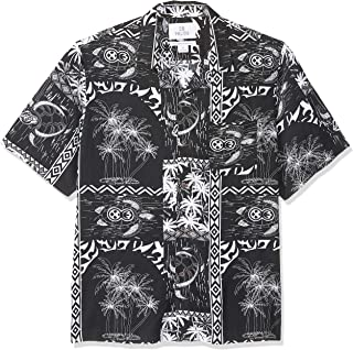28 Palms Men's Relaxed-Fit Vintage Washed 100% Rayon Tropical Hawaiian Shirt