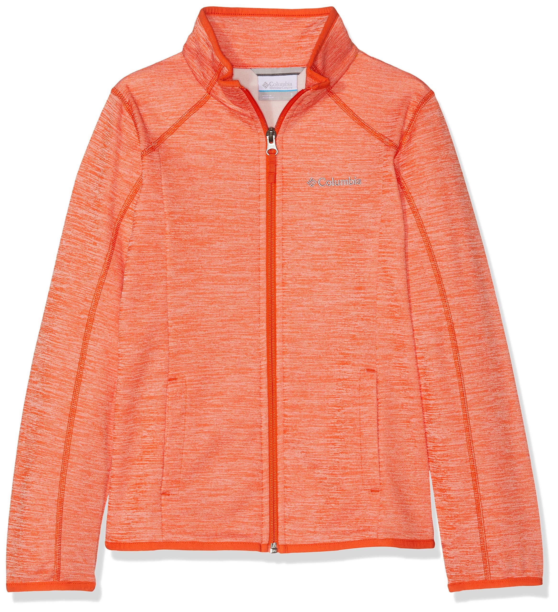 Columbia Kinder Wilderness Way Fleece Jacket and Sweaters, Orange (Tangy Orange)