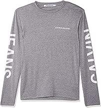 Calvin Klein Men's J30J310404-Grey Heather T-Shirts