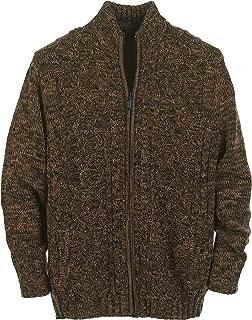 Mens Cardigan Twisted Knit Regular Fit Full-Zipper Sweater