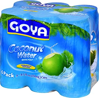 Goya Foods Coconut Water with Pulp, 6 Count (Pack of 5)