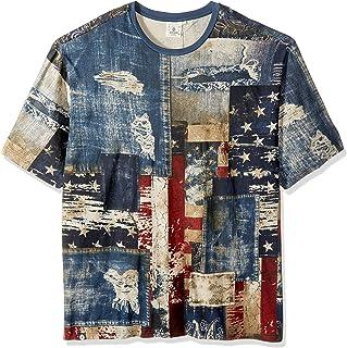 AKADEMIKS Mens A26TE06F Patch Front Americana T-Shirt T-Shirt