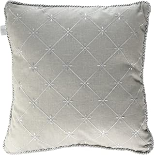 Glenna Jean Starlight Pillow, Grey Embroidery