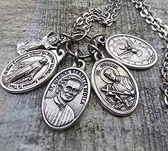 Pro Life, Motherhood, Expectant Mothers, St. Gianna Beretta Molla, St. Gerard Holy Medal Prayer Necklace, Confirmation Patron Saint, Catholic Jewelry