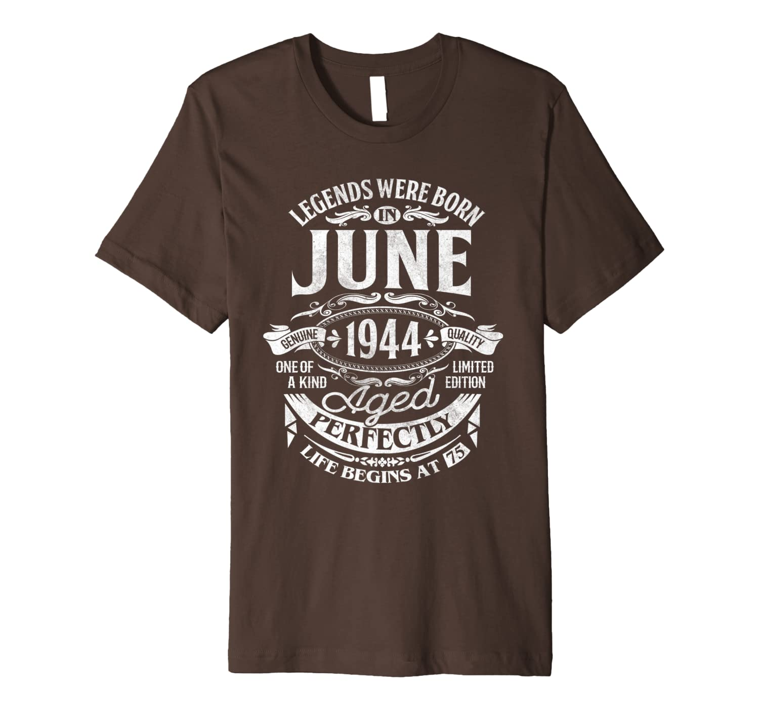 Legends Were Born In June 1944 75th Birthday Gift Shirt Premium T-Shirt Unisex Tshirt