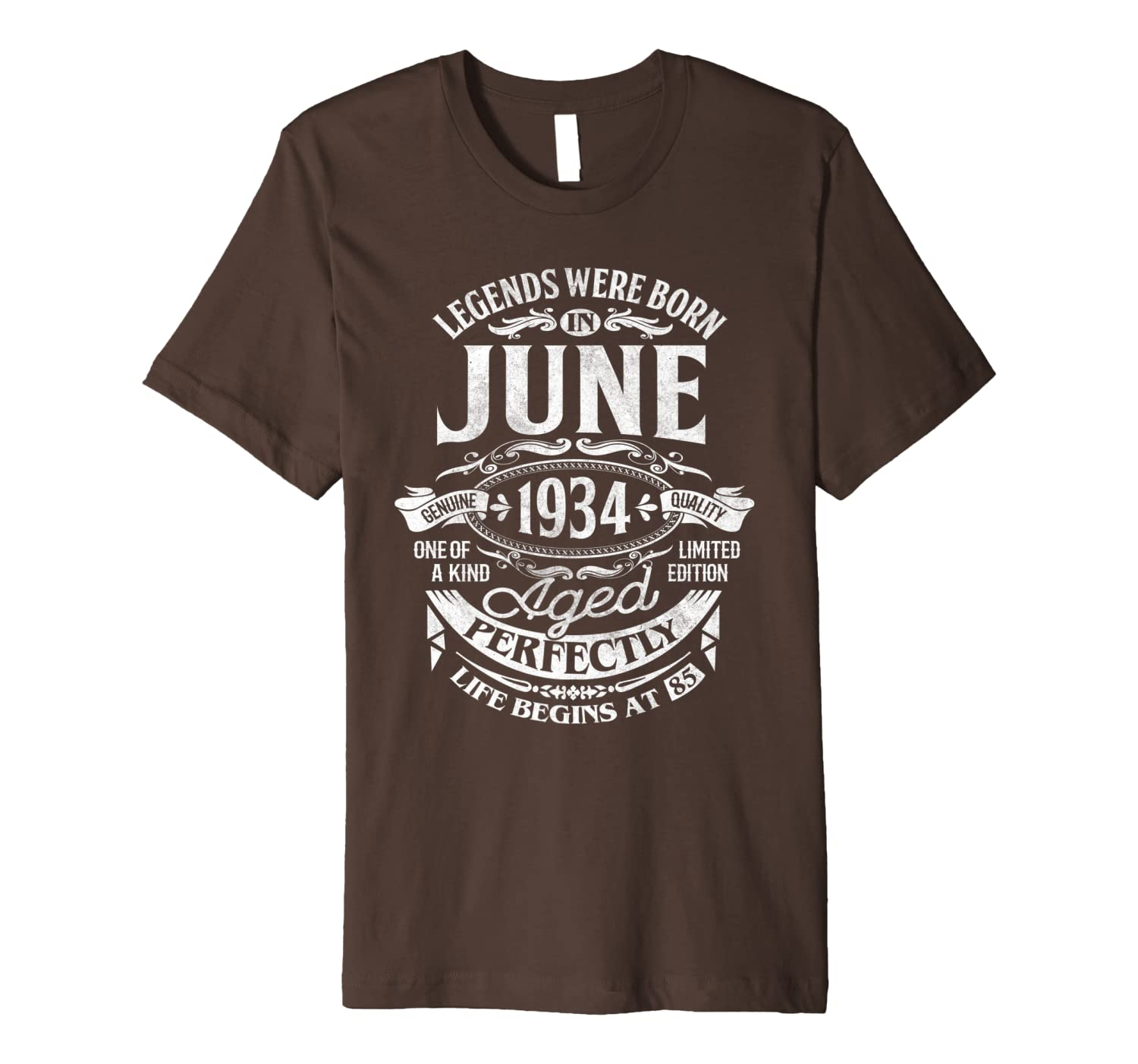 Legends Were Born In June 1934 85th Birthday Gift Shirt Premium T-Shirt Unisex Tshirt