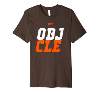 8bf484923 Amazon.com: OBJ to Cleveland Premium CLE T-Shirt (Brown and Gray ...