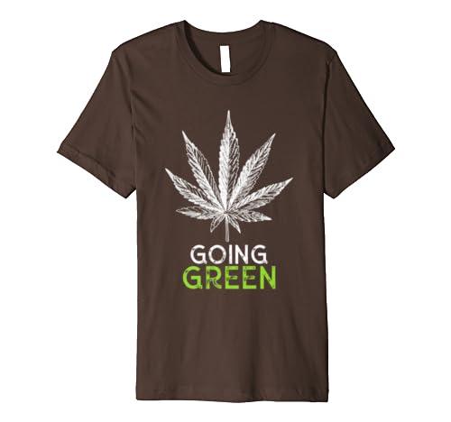 Going Green Marijuana Leaf Weed CBD Oil Hemp Cannabidiol Premium T-Shirt