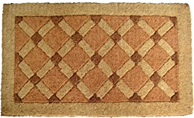 Imports Decor Coir Doormat, Cross Board, 18-Inch by 47-Inch