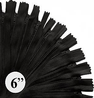 KGS 6 inch Nylon Zipper | 12 pcs/Pack (Black)