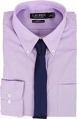 LAUREN Ralph Lauren - Slim Fit Stretch Non Iron Pinpoint Button Down Dress Shirt