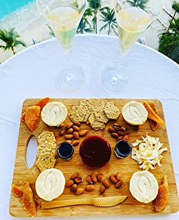 The Vegan Cheese Shoppe's Tastes of Paradise Vegan Cheese Platter. Made in Hawaii. Dairy-Free, Gluten-Free, Soy-Free. (Serves 4-6)