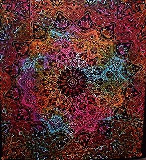 Handicrunch Tie Dye Bohemian Tapestry Elephant Star Mandala Tapestry Tapestry Wall Hanging Boho Tapestry