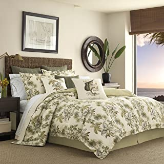 Tommy Bahama Home Nador Cotton King Comforter Set Neutral Beige 4 Pieces