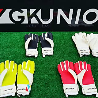 GK Union Goalkeeper Gloves with Multi Colors (Black, 10.5)