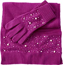 Cotton Cashmere Scarf And Glove Set