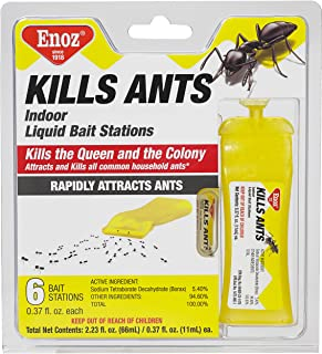 Enoz Kills Ants Liquid Ant Killer - Prefilled Ant Bait Stations (6)