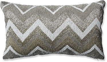 Pillow Perfect Beaded Chevron Gold Rectangular Throw Pillow