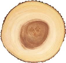 """Kitchencraft Artesà rústico tronco de árbol de madera Tabla de quesos/bandeja con borde de corteza, 35cm (14"""")–redondo, madera, marrón, 35x 35x 2.2cm"""