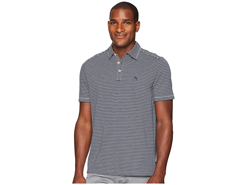 Tommy Bahama Marina Marlin Polo Shirt (Ocean Deep) Men