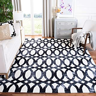 Safavieh Dip Dye Collection DDY675D Handmade Geometric Watercolor Ivory and Graphite Wool Area Rug (5' x 8')