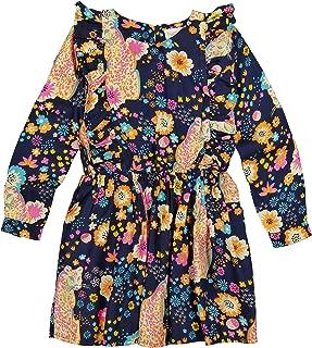 Girls' Little Fantasia Dress Cheetah Floral Navy