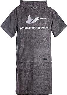 comprar comparacion Atlantic Shore | Surfponcho (Unisex) * Albornoz de algodón de Primera Calidad ➤ Gris ➤ Long