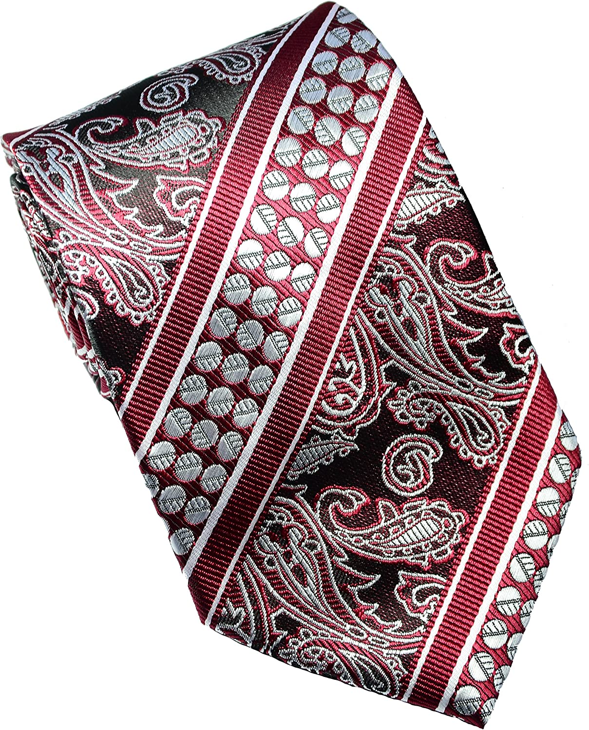 Scott OFFicial mail order Alania High order New Classic 100% Men's Silk Paisley Woven Jacquard