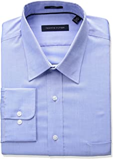 6566189b Tommy Hilfiger Men's Big and Tall Non Iron Tall Fit Solid Point Collar Dress  Shirt