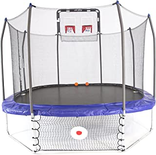 Skywalker Trampolines Square Trampoline with Enclosure – Soccer and Basketball Trampoline
