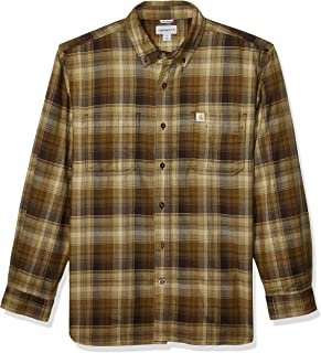 Men's Rugged Flex Hamilton Plaid Flannel Shirt (Regular and Big & Tall Sizes)