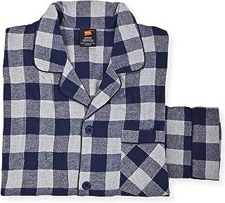 Men's 100% Cotton Flannel Plaid Pajama Top and Pant Set