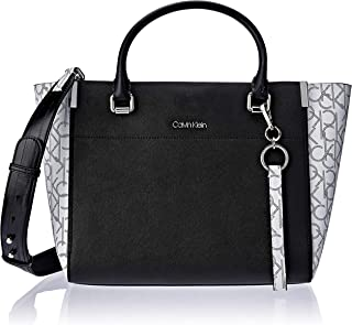 Calvin Klein Women's New Raelynn Tote, Black/White, One Size