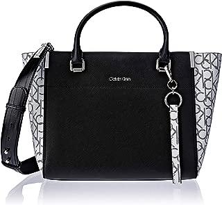Calvin Klein Women's New Raelynn Tote, Black/White, One Size