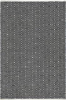 FAB HAB Veria - Blanco/Negro Alfombra Hecha de Pet Reciclado (Hilo de poliéster) para Uso Interior/Exterior (60 cm x 90 cm)