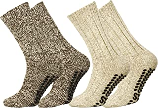 Lote de 2 o 4 pares de calcetines noruegos en lana con puntos antideslizantes 2 Paires 39/42