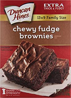 Duncan Hines Brownie Mix, Chewy Fudge, 18.3 Ounce (Pack of 6)